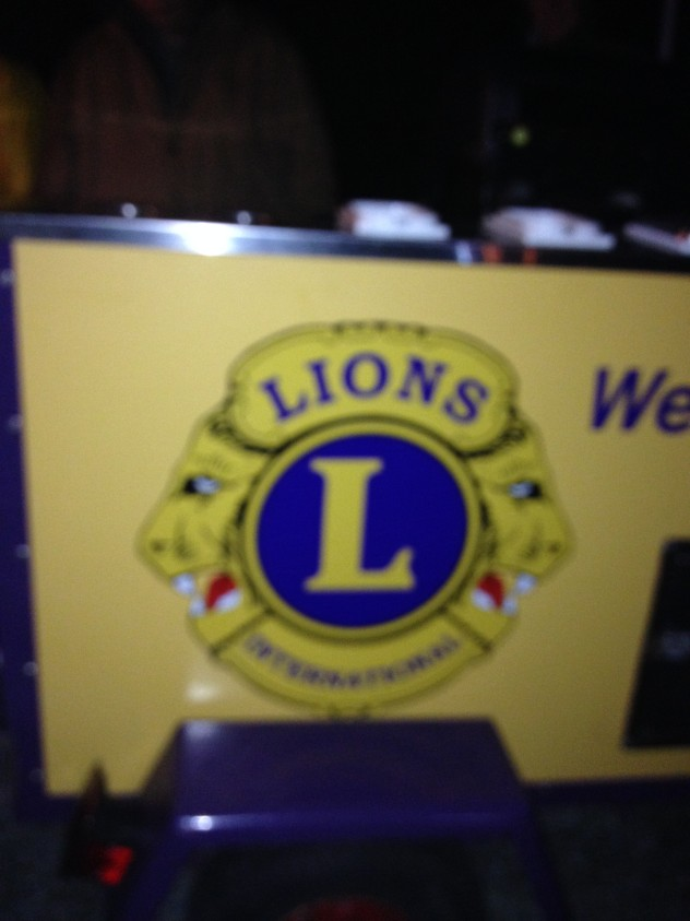Lions Hot Dog Cart
